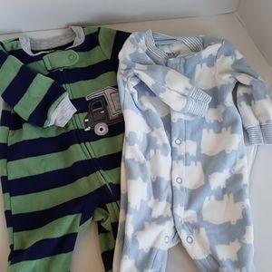 2 new born Carter's sleepers
